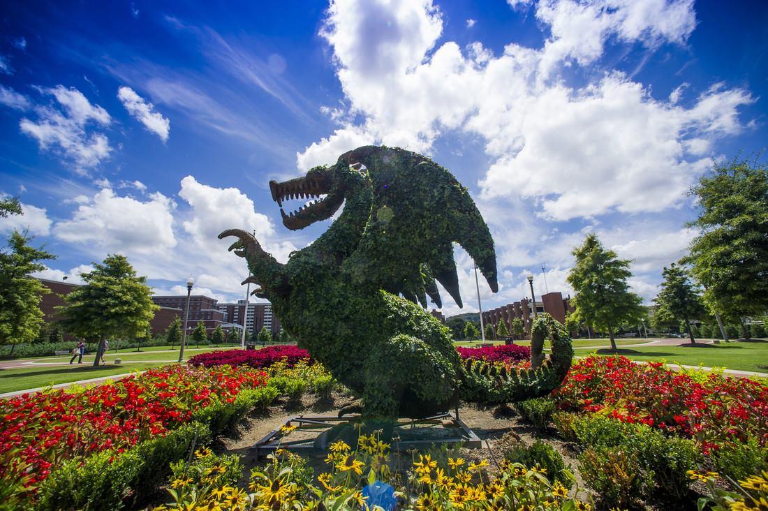 Biểu tượng chú rồng linh vật của Đại học Alabama at Birmingham