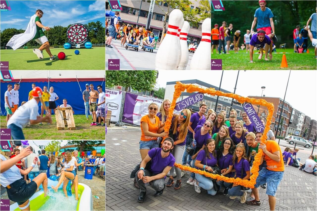 Sinh viên Đại học KHUD Fontys trong Purple Festival của trường
