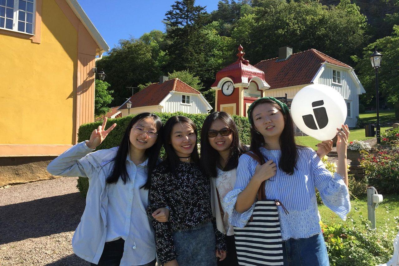 Sinh viên quốc tế của chương trình pathway tại campus Granna của Đại học Jonkoping