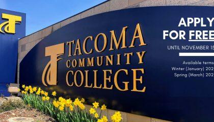 Cao đẳng cộng đồng Tacoma bang Washington miễn phí ghi danh kỳ đông và xuân 2021 khi đăng ký trước ngày 15/11/2020