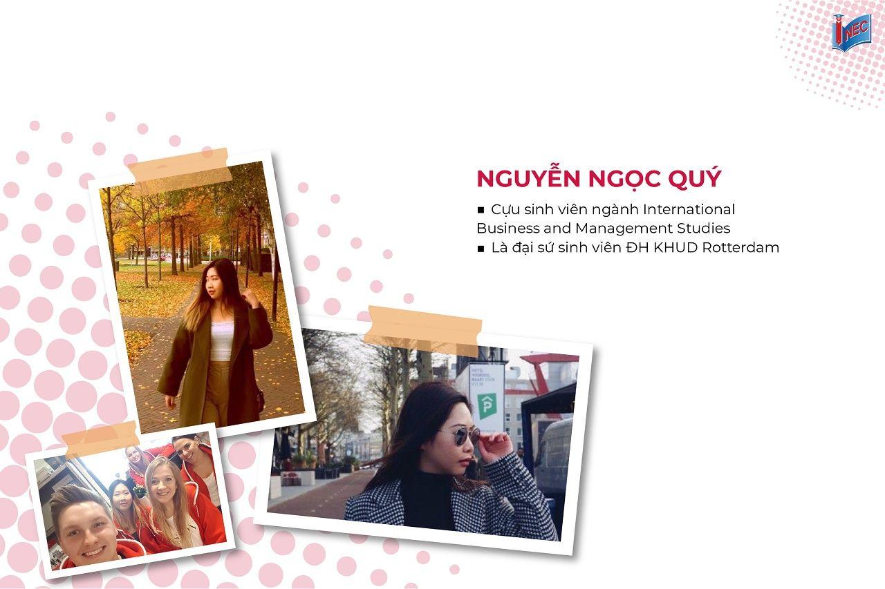 Nguyễn Ngọc Quý - cựu sinh viên ngành quản lý và kinh doanh quốc tế tại Trường Kinh doanh Rotterdam