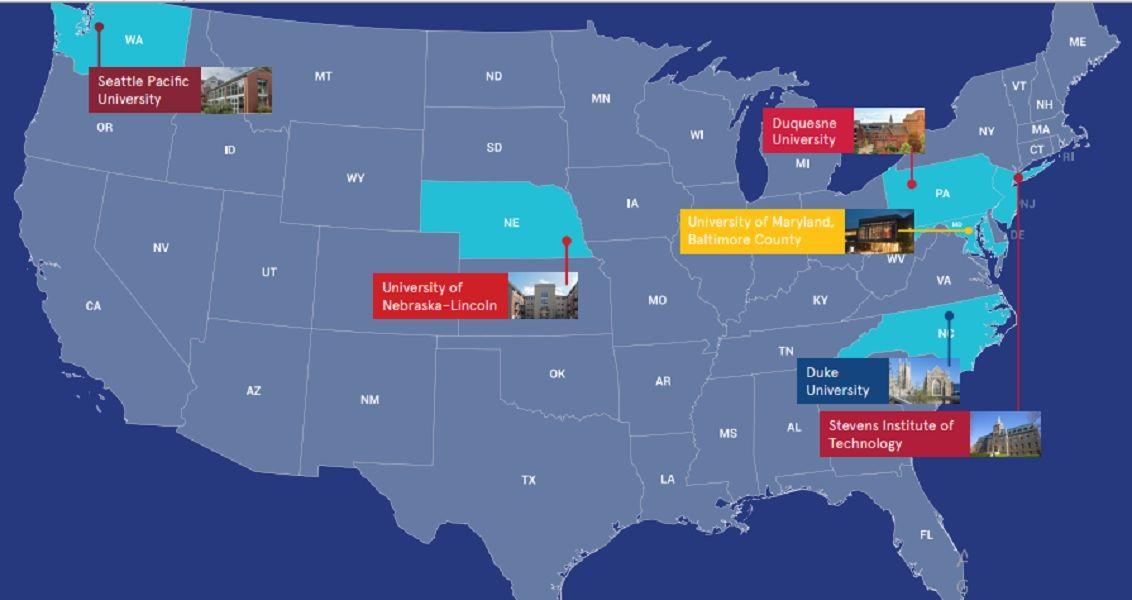 Mạng lưới đại học đối tác của Tập đoàn giáo dục EduCo trải khắp nước Mỹ và nổi bật về danh tiếng giáo dục