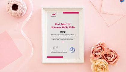 """Không chỉ là đơn vị duy nhất tại Việt Nam được Đại học HAN Hà Lan vinh danh là """"Đại diện tuyển sinh tốt nhất"""" 5 năm liền, INEC còn là đơn vị duy nhất được tham gia điều phối chương trình học bổng INEC-HAN, chắp cánh du học Hà Lan miễn hoàn toàn 100% học phí."""