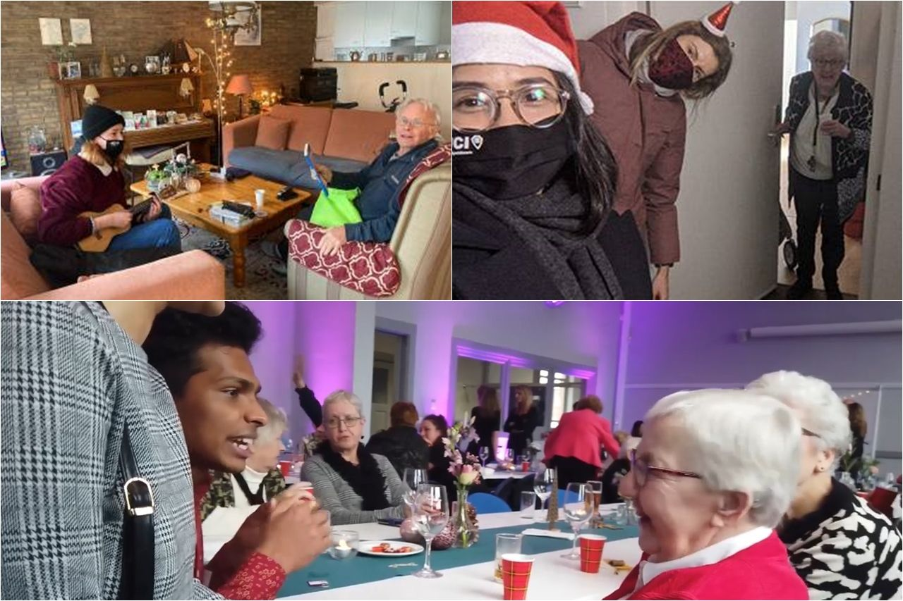 Sinh viên Đại học Wittenborg tích cực mang đến niềm vui mùa Giáng sinh cho người cao tuổi tại Apeldoorn
