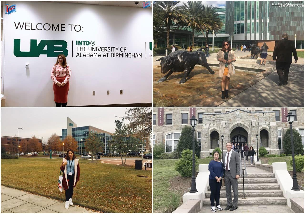 Đại diện INEC trong nhiều chuyến thăm theo lời mời của các trường tại Mỹ