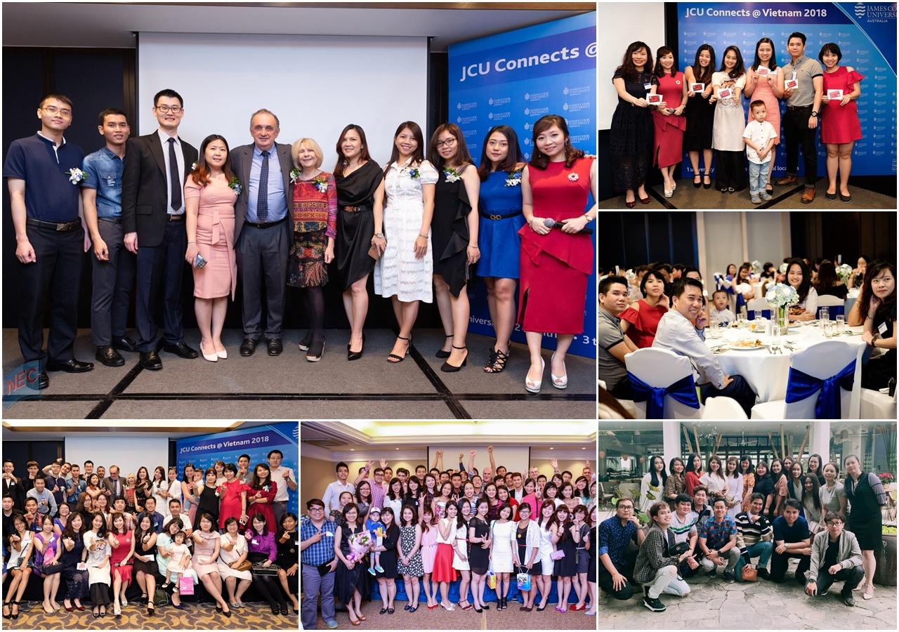 """Nhiều thế hệ sinh viên Việt Nam đã trưởng thành từ """"cái nôi"""" JCU Singapore. Du học INEC vinh dự là """"cầu nối"""", đã góp mặt trong vai trò khách mời danh dự trong các Ngày hội Alumni JCU Connects qua rất nhiều năm"""